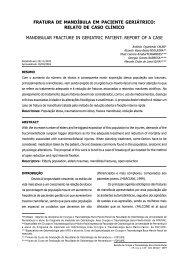 fratura de mandíbula em paciente geriátrico - Revista de Cirurgia e ...