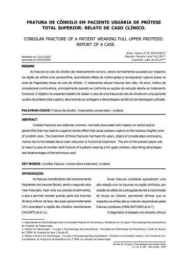 Resumo /Abstract - Artigo Completo - Revista de Cirurgia e ...