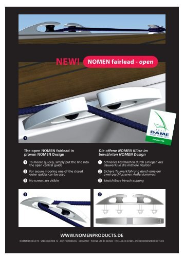 NOMEN fairlead - open NEW!