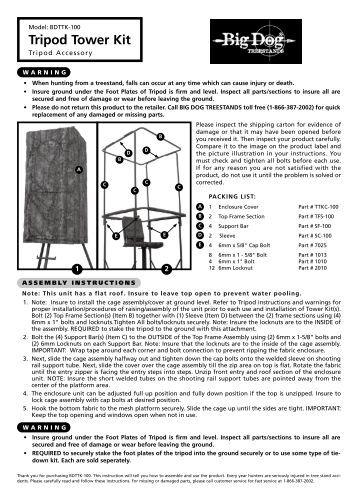 Command Tower Enclosure Kit Big Dog Treestands