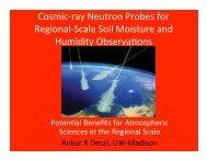 Cosmic-‐ray Neutron Probes for Regional-‐Scale Soil ... - Desai