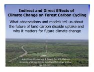 Indirect and Direct Effects of Climate Change on Forest ... - Desai