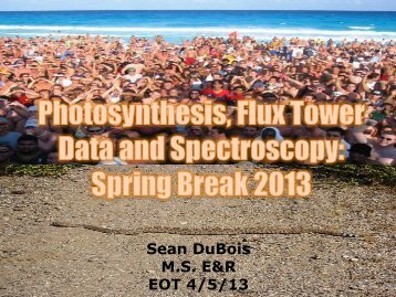 Sean DuBois M.S. E&R EOT 4/5/13