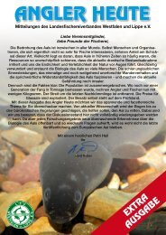 ANGLER HEUTE - Landesfischereiverband Westfalen und Lippe eV