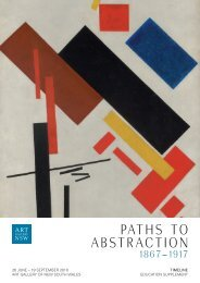 Paths to abstraction - Art Gallery NSW