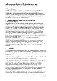 Allgemeine Geschäftsbedingungen - APM Gehäusetechnik GmbH