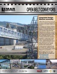 OPEN BELT CONVEYORS - LeMar Industries