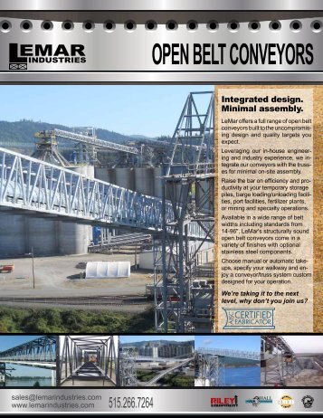 OPEN BELT CONVEYORS - LeMar Industries