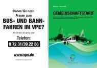 BUS- UND BAHN- FAHREN IM VPE? - Veolia Transport