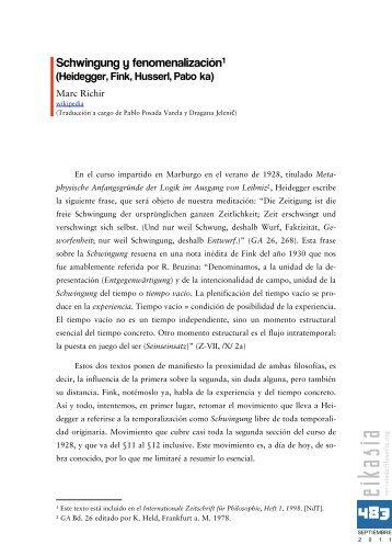 Heidegger, Fink, Husserl, Patocka