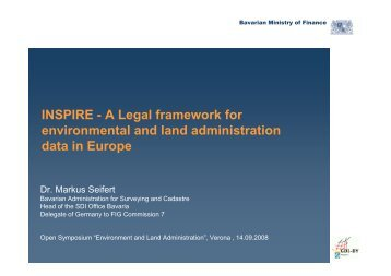 INSPIRE - A Legal framework for environmental and land - FIG