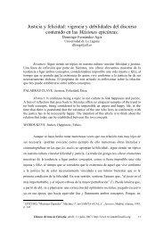 Justicia y felicidad: vigencia y debilidades del discurso ... - Eikasia