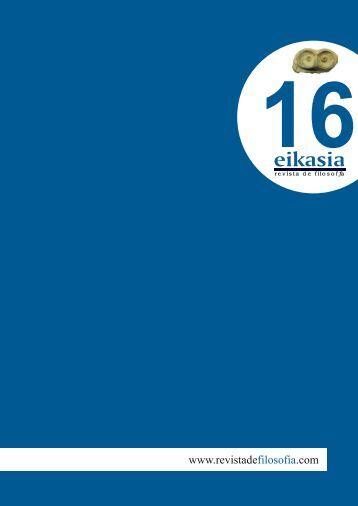 Descargar número completo (7,8 MB) - Eikasia Revista de Filosofía