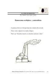 Humoremas ecológicos y naturalistas, Eikasia 9 (marzo, 2007)