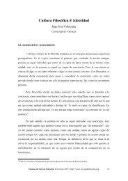 Cultura Filosófica E Identidad. Eikasia 8 (enero, 2007)