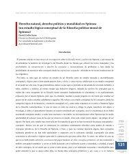Derecho natural, derecho político y moralidad en Spinoza (un ...