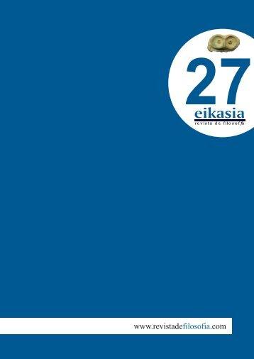 Descargar número completo (5,1 MB) - Eikasia