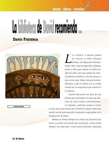 letras libros revistas - Revista EL BUHO