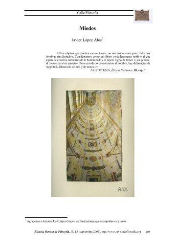Miedos - Eikasia Revista de Filosofía