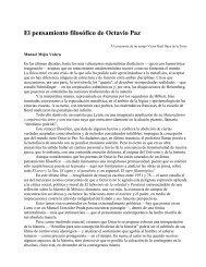 El pensamiento filosófico de Octavio Paz - Revista EL BUHO
