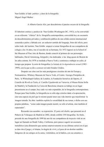 Nan Goldin: el lado poético y duro de la ... - Revista EL BUHO