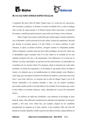 editorial (pdf) - Revista EL BUHO