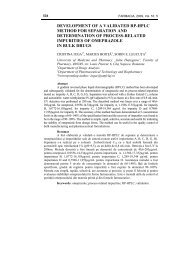 development of a validated rp-hplc method for separation - farmacia
