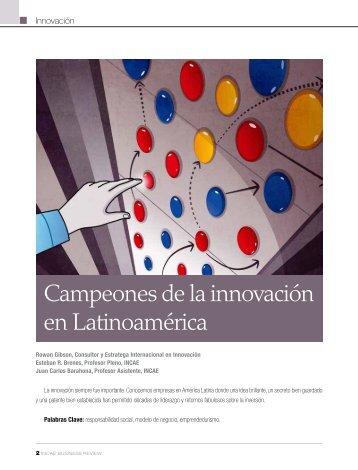 Campeones de la innovación en Latinoamérica - INCAE Business ...