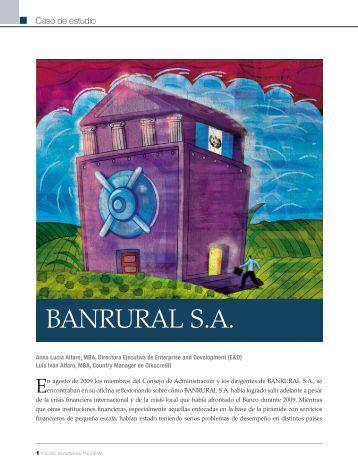"""""""BANRURAL S.A."""" en PDF - INCAE Business Review"""