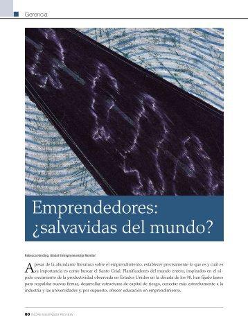 Emprendedores: ¿salvavidas del mundo? - INCAE Business Review