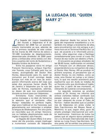 "LA LLEGADA DEL ""QUEEN MARY 2"" - Revista de Marina"