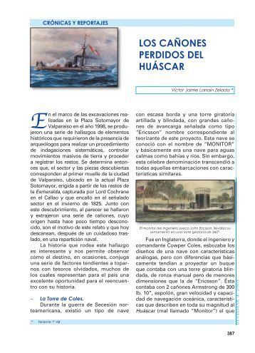 Los Cañones Perdidos del Huascar. - Revista de Marina