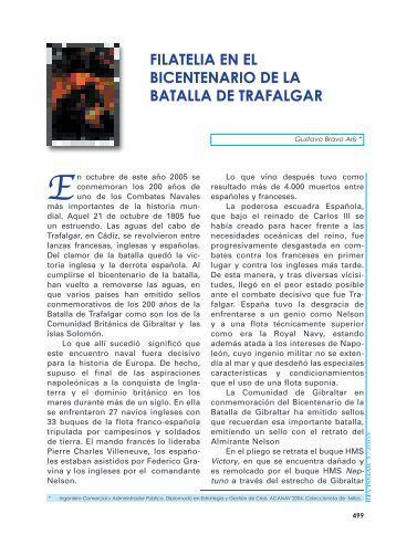 FILATELIA EN EL BICENTENARIO DE LA ... - Revista de Marina