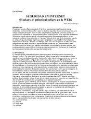 SEGURIDAD EN INTERNET ¿Hackers, el ... - Revista de Marina