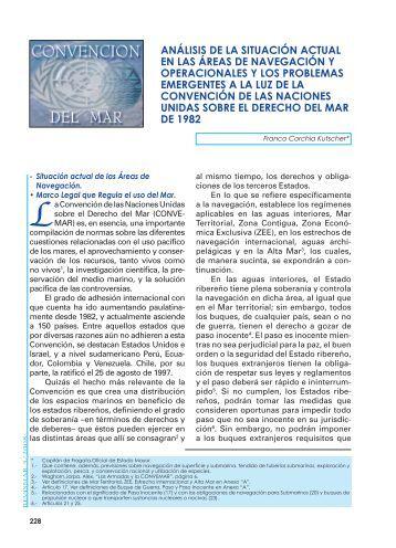 ANÁLISIS DE LA SITUACIÓN ACTUAL EN LAS ... - Revista de Marina