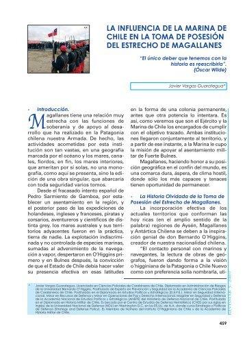 LA INFLUENCIA DE LA MARINA DE CHILE EN ... - Revista de Marina