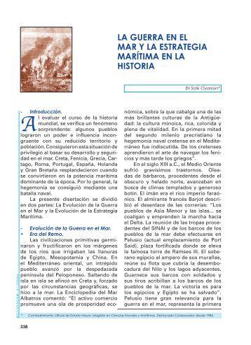LA GUERRA EN EL MAR Y LA ESTRATEGIA ... - Revista de Marina