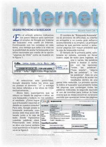 Internet. Sáquele provecho a su buscador (II). - Revista de Marina