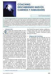 coaching. descubriendo nuevos caminos y ... - Revista de Marina