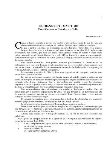 EL TRANSPORTE MARÍTIMO En el Comercio ... - Revista de Marina