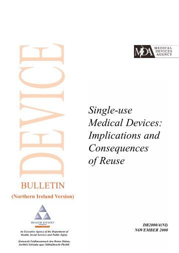 Single-use Medical Devices - Department of Health, Social Services ...