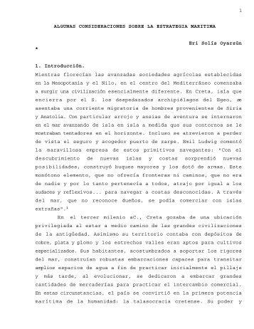 Algunas Consideraciones sobre la Estrategia ... - Revista de Marina