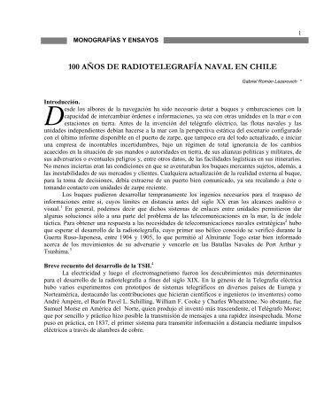 100 años de radiotelegrafía naval en chile - Revista de Marina