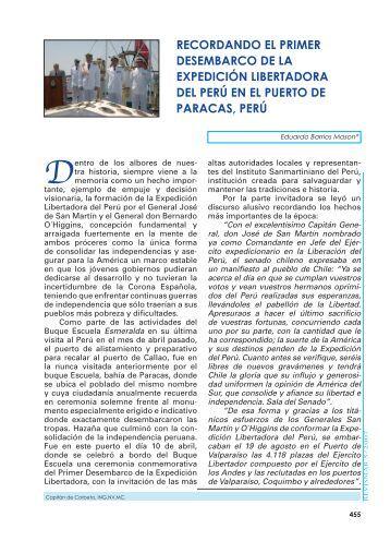 RECORDANDO EL PRIMER DESEMBARCO ... - Revista de Marina