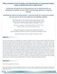 Effect evaluation of the feeding, and ... - SciELO Colombia