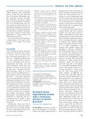 letters to the editor - Revista Nefrologia
