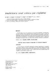 Insuficiencia renal crónica por cisplatino - Revista Nefrologia