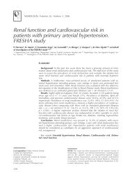 Renal function and cardiovascular risk in patients with ... - Nefrología