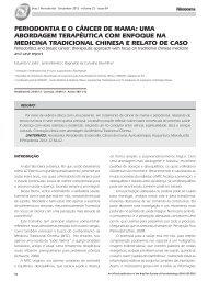 pERIODONTIA E O cÂNcER DE MAMA: uMA ... - Revista Sobrape