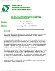 Estudo das características físicas das escovas ... - Revista Sobrape